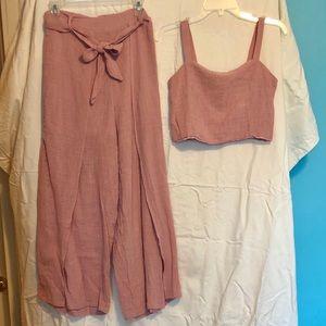 Co-ord Pink Linen Set
